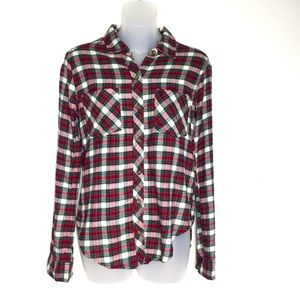 Abercrombie & Fitch Red Plaid Flannel